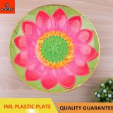 TX07 PLASTIC 3D LOTUS IML PLATE FOOD TRAY CHEAP PLATE BEAUTIFUL PLATE