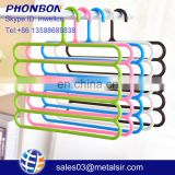 Factory wholesale cheap item multifunctional plastic hanger, home accessory, s shape cloth hanger