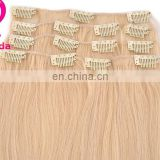 Wholesale - 22 inch Clip in Hair Extensions 70g platinum blonde Color #60 Remy 100% Hu man Hair Extenisons
