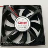 CNDF low voltage with high speed 3500rpm dc cooling brushless fan 80x80x15mm with 12VDC 24VDC