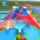 Fun park equipment outdoor used inflatable water slide for sale