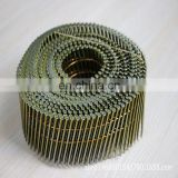 manufacturer supply high quality low price ring shank nail gun coil nail for wood pallet