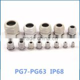 Series plastic cable glands, nylon PG PVC cable gland IP68 cable gland