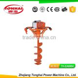TH-EA6804 52CC gas powered post hole digger for tree transplanting hand earth auger