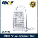 Solar rechargeable 60pcs 2835 SMD portable emergency led light,solar rechargeable led bright emergency lamp