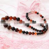 Natural Dream Agate Onyx Gemstones Round Beads Jewelry Necklace