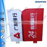 double side irregular shape used outdoor box signs