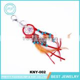Wholesale Hot Sale Business Gift Handmade Feather Dream Catcher Keychain Women Fashion Unique Style Keychain