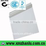 White board envelopes made of 350gsm white lined chip board
