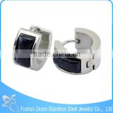 Wholesale cheap stainless steel jewelry, fashion jewelry earrings, black stone earrings for men