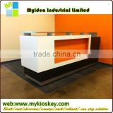 2015 Dowtop Hotsale LED White Beauty Salon Reception Counter Design night club bar counter design
