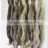 Wholesale china supplier unprocessed best quality grey hair 16-24'' 100% human virgin remy hair