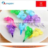 Five cute bear kids five color crayons painting school supplies stationery