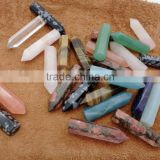 Wholesale Natural Mixed Gems Stones Hexagonal Crystal Amazonite Point Healing Necklaces Earrings Pendant Beads Jewelry