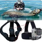 Non-Slip Elastic Head Strap Headband Mount For Gopro HD Hero 1/2/3/3 Plus Xiaomi Yi SJ4000 SJ5000 SJcam