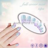 Beautdy product flower design color ABS artificial nail tips full cover color christmas false fingernail art tips                                                                         Quality Choice