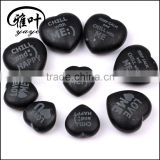 Bar accessory Heart shape Engraved whisky stone