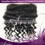 Queen Beauty deep wave natural color 13*4 Brazilian virgin hair lace frontal