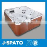 Wholesale spa products from Hangzhou China colorful water lamp 5 person swim spa pool with DVD