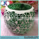 Mosaic decorative crackle glass himalayan salt candle holder