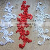 DIY Lace Collar Applique Flower Embellishment For Bridal Wedding Dress,Sew Motif Applique Embroidery Design Patch