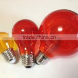 decoration A60 colorful Led Filament Bulbs dimmable led edison filament bulbs e27 24v led christmals lights