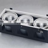 High quality Brand COB LED chips high lumens efficiency high CRI cob 3x45w led grille downlight