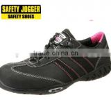 Safety Jogger water repellent S3 leather rubber outsole lady line safety shoes