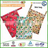 Happy flute Polyester Material Diaper Wet Bag washable diaper bag baby bags for mothers pul fabric waterproof china wholesale
