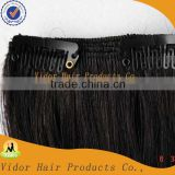 "18""-26"" 7 pcs 120g 100% Real Human Hair Clips In/On Extension #1b Natural Balck"