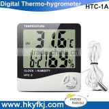 Digital Indoor Outdoor Temperature Humidity meter clock thermohygrometer gauge
