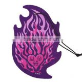 Hot sell promotional OEM hanging Cotton paper Car air freshener with many designs and scents