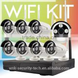 Vitevison CCTV system with optional 1mp 1.3mp wifi camera H.264 8ch wireless NVR Kit                                                                         Quality Choice