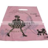 wholesale dcb-44 25x33cm Pink Cute Girl Plastic Merchandise Retail Bags w Die-cut handle, Pack of 40, Shop Equipment