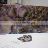 Amethyst gemstone level polished big slab for