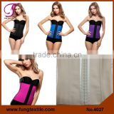 4027 SGS Approved 2015 New Arrival Sexy Black Underbust Steel Boned Waist Training Latex Corset