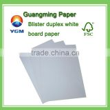 uncoated offset printing paper/Blister duplex white board paper