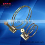 Galvanized steel double wire hose clamps