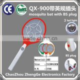 QX900-1mosquito killer mosquito swatter fly killer mosquito racket with BS plug