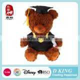 2016 Factory new products stuffed plush toy graduation teddy bear