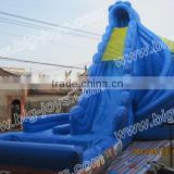 Hot banzai typhoon twist inflatable water slide for sale