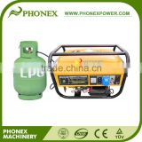 Phonex 5KW 5KVA LPG Gas Generator Price Power Generator Natural Gas & Gasoline Dual Gas Generator