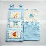 Embroidery Lovely Animals Baby Crib Bedding Set Cot TidyX1,Cot PocketX2
