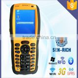 RFID Reader Handheld Barcode Scanner PDA with WIFI 3G GPS GSM / GPRS Bluetooth Camera Wince 6.0