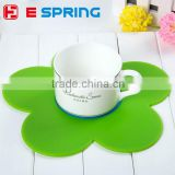 Flower Shap Silicone Mat Durable Non-slip Heat Resistant Dining Table Mats Coffee Cup Multifunction Hung Waterproof Pads