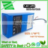 7.4V Li-polymer Rechargeable Lithium Polymer Battery for RYH Bait Boat