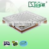 pocket spring deluxe mattress rolled, sleeping sponge mattress/ latex mattress china