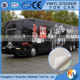120gsm self adhesive vinyl for car body wrapping permanent or removable glue 80-100micron PVC film thickness