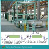 High capacity polyurethane PVC synthetic artificial leather making machine
