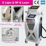 Hot Sale Skin Lifting System Ipl Equipment Hair Removal Elight ( Professional Ipl Rf ) Plus Nd Yag Laser Beauty Instrument Vascular Lesions Removal